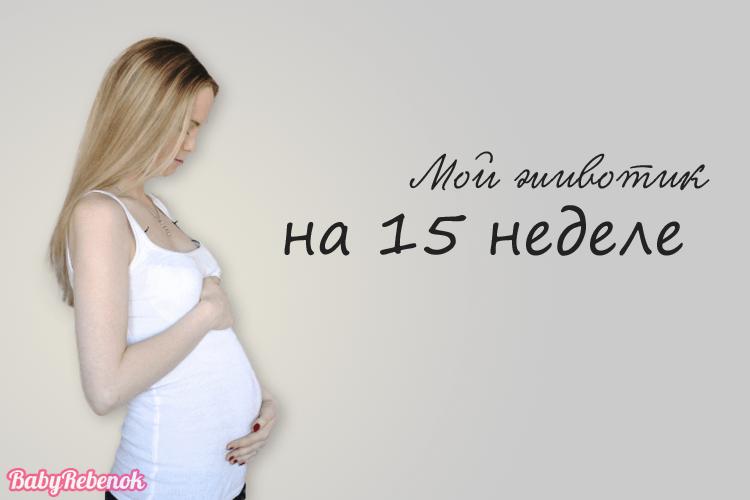 Животик на 15 неделе беременности фото