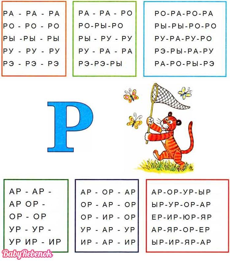 Как научить ребенка говорить и выговаривать букву Р?