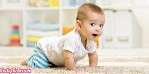 Как научить ребенка ползать. Когда ребенок начинает ползать