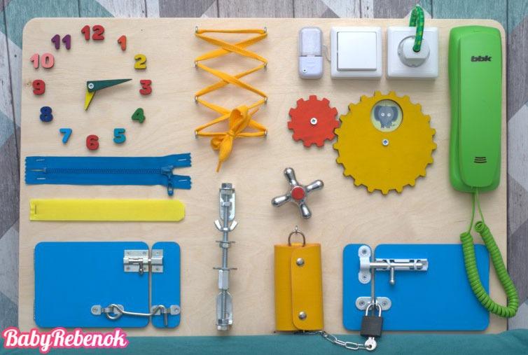 Развивающая доска бизиборд своими руками для детей: 20 идей для Вас