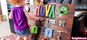 bizibord 300x140 - Развивающая доска бизиборд своими руками для детей: 20 идей для Вас